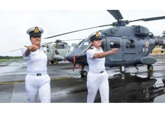 Breaking Through Limitations, First Time in India Two Women Naval Aviators Selected as Airborne Combatants