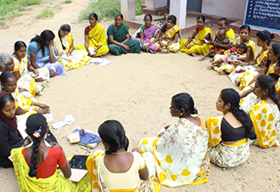 Women from SHGs under UP Government make Solar Lamps for Students