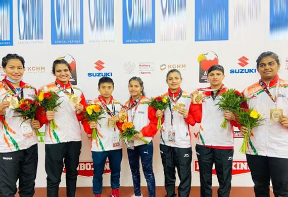 Indian Women's Boxing Team bags 6 Gold Medals at Youth World Boxing Champions